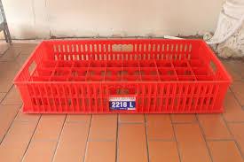 Jual Keranjang Container Plastik Bekas keranjang kontainer gelas tipe 2216 l rajarakbarang rak besi