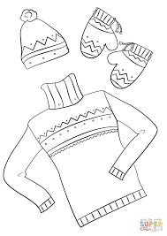 winter clothes coloring page free printable coloring pages