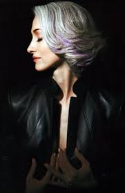 beautiful gray hair streaks a touch of purple on grey hair silver foxes pinterest gray