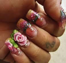 nail art 3d flowersartnailsart love4nailart two toned 3d flower