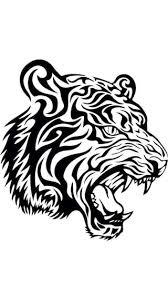 buy mesleep tiger design black wall sticker medium at low