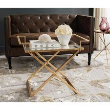 gold leaf coffee table safavieh pierre antique gold leaf coffee table fox2559a the home depot