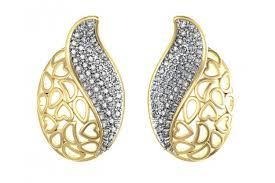 diamond ear studs buy designer diamond ear studs online in india at best price