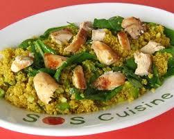 comment cuisiner le quinoa recettes recette salade de quinoa et poulet