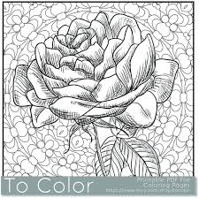 coloriage coloriages rose coloring