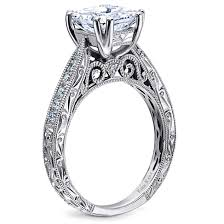 classic wedding rings wedding rings white gold princess cut solitaire engagement