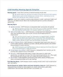 54 meeting agenda examples