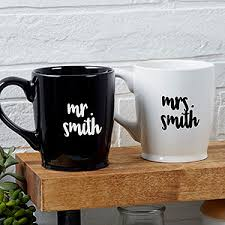 wedding gift mugs personalized wedding coffee mugs mr mrs