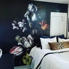 dutch dark vintage floral removable wallpaper wall mural