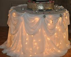 Andrea Howard Blog Decorating a Cake Table With Lights and Tulle
