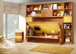 hidden office desk hidden bed with desk contemporary home office new york by