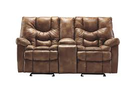Dual Rocking Reclining Loveseat Darshmore Glider Reclining Loveseat With Console Ashley