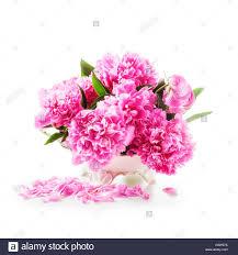 The Pink Peonies peony flowers romantic bouquet of pink peonies in retro vase