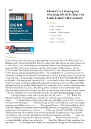free ccna study guide calaméo ccna routing and switching