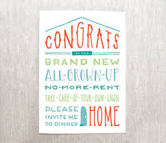 congrats on your new home card new house card house cards