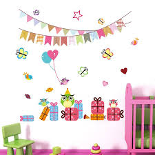 Butterfly Kids Room by Cartoon Children Birthday Party Decoration 1023 Wall Stickers For