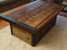 Diy Wood Coffee Table Ideas by Reclaimed Wood Coffee Table Diy