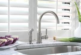 essen single handle kitchen faucet with side spray optional deck