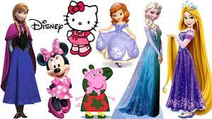 magnetic fashion wooden dolls disney princess anna elsa rapunzel