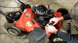 murray push mower surging fix youtube