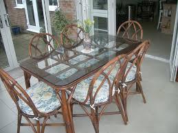 glass top u0027bamboo u0027 dining table u0026 6 chairs in lymington