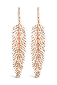 what size diamond earrings should i buy gold medium size diamond feather earrings