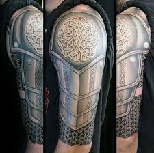 Celtic Cross Half - 100 celtic knot tattoos for interwoven design ideas