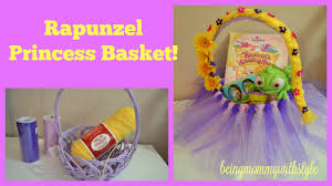 princess easter baskets rapunzel princess easter basket diy beingmommywithstyle