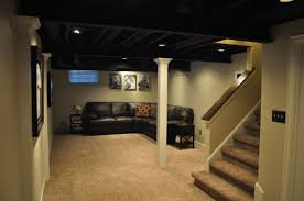 Unfinished Basement Ceiling by Painting Basement Ceiling Joists Mechanicals Non Wakeboarding