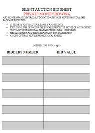 silent auction bid summary sheet silent auction bid sheet