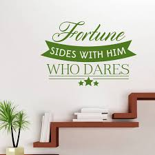 compare prices on wall cabinet office online shopping buy low hot diy wall art decals quotes fortune sides with him who dares wall sticker