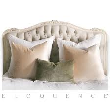 eloquence sophia queen headboard in weathered white kathy kuo