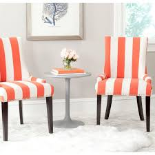 Room And Board Dining Chairs by Safavieh Lester Grey Zebra Cotton Linen Dining Chair Set Of 2