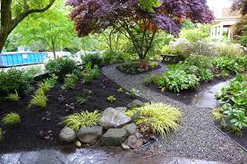 with stone small front yard landscaping ideas no grass rustic