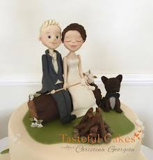 dog wedding cake toppers awesome cing bonfire themed groom and dog wedding cake