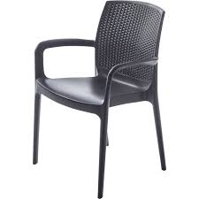chaise tress e fauteuil de jardin en rsine tresse bohme anthracite leroy merlin