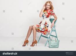 beautiful young blonde woman nice spring stock photo 408398524