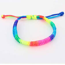 bracelet rainbow images Set of 100 rainbow friendship bracelets braided bracelet bright jpg