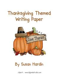thanksgiving themed writing paper by susan hardin tpt