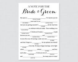 wedding mad lib template wedding mad lib etsy