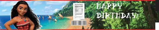 free moana water bottle labels template drevio invitations design