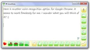 voicenote another excellent voice to text app for google chrome