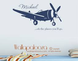 airplane name oh the places you ll go wall decal wallapalooza decals airplane name oh the places you ll go wall decal