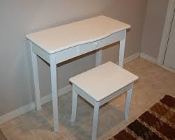 White Vanity Stool For Bathroom by Furniture White Vanity Set With Stool Made Of Wooden With Saber
