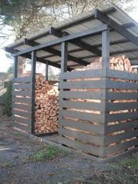Outdoor Firewood Shed Plans by Firewood Storage For Back Garage Get Shed Plans Here Pinterest