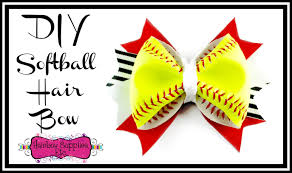 softball bows diy softball hair bow using a real softball hairbow supplies