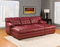 tufted leather sectional sofa furniture contemporary red vinyl chaise sofa with tufted seat