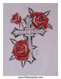 cross roses 1