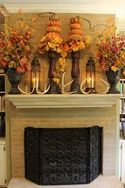decorations pleasant fall fireplace mantel thanksgiving holiday