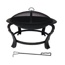 home depot gas fire pit black friday hampton bay ashcraft 30 in steel round fire pit ft 01c at the